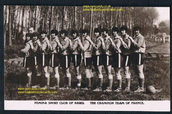 1920s postcard Dick Kerr's ladies related Femina Sport Paris women's football